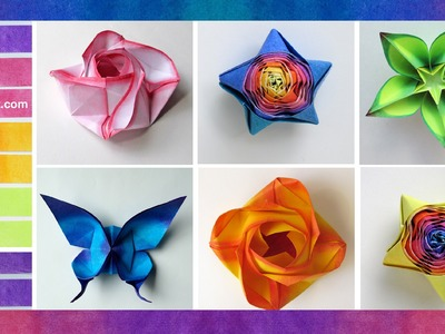 How to Color Paper for Origami : : Coloreado de papel