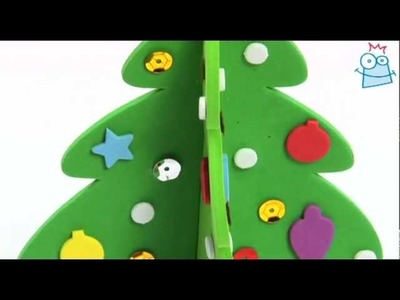 How to craft your own 3D foam Christmas tree