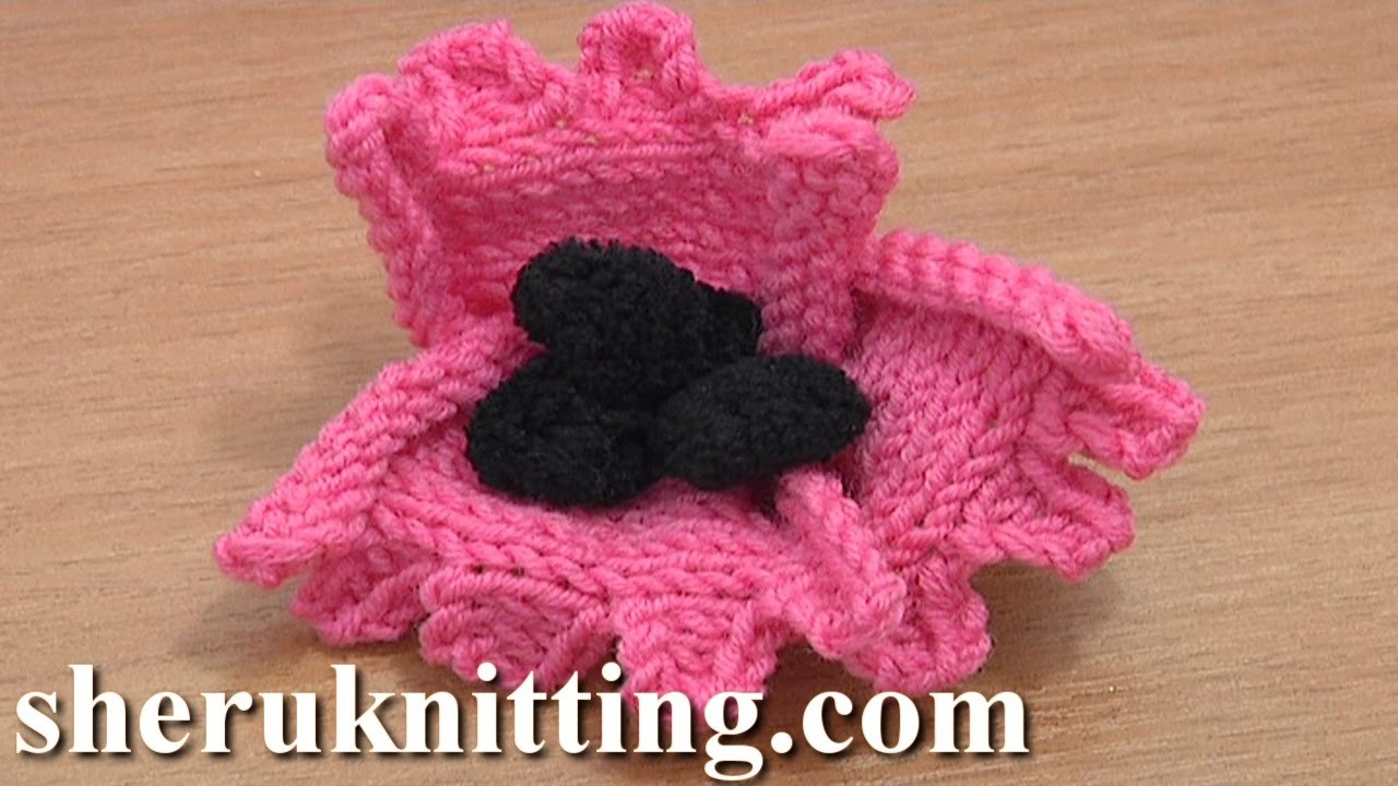 How to Knit a Flower Tutorial 22 Free Knitting Flower Patterns