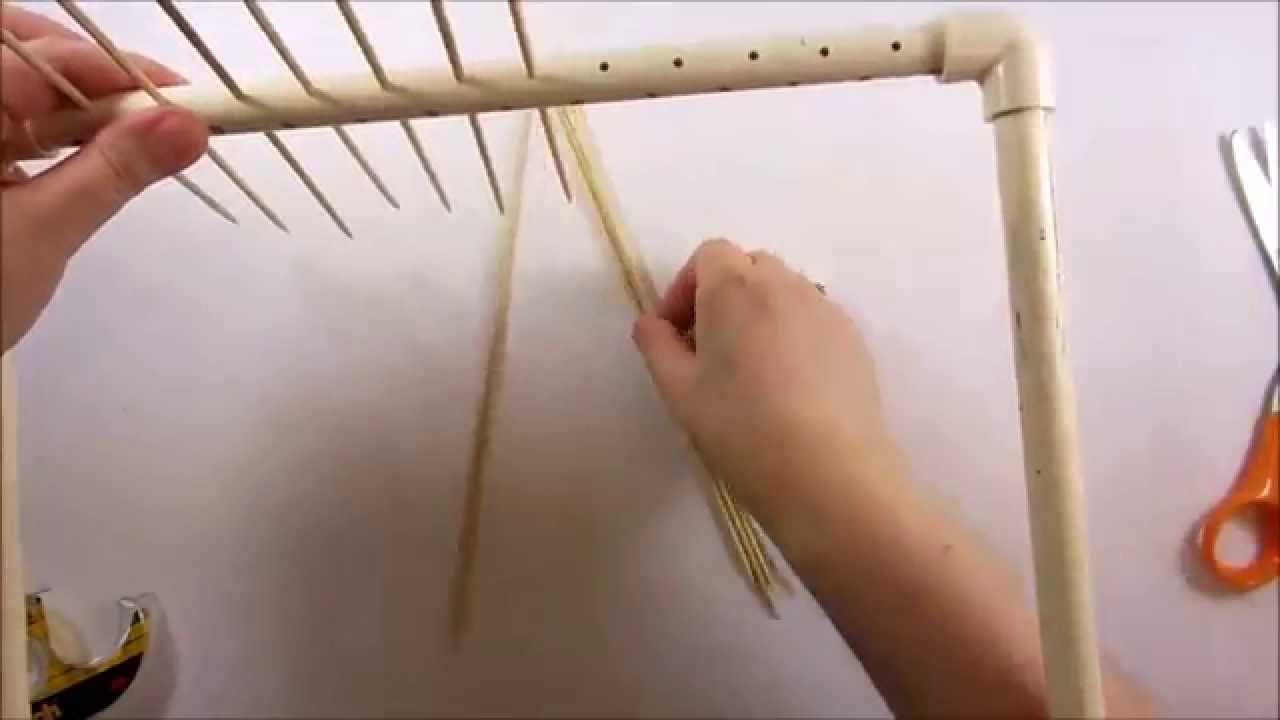 How to Make a Paper Bead Drying Rack With PVC Pipe