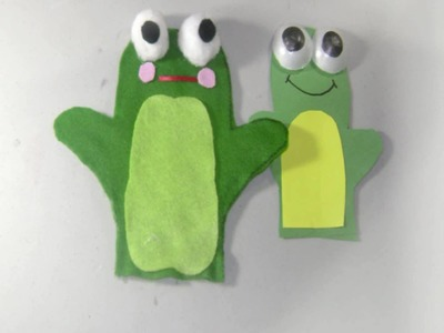 How to Make Felt Frog Puppet Japanese Style! - EP