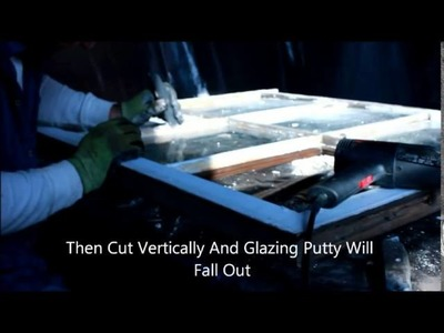 How To Removing Glazing Putty From An Old Wooden Sash Window