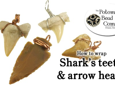 How to Wire Wrap Shark Teeth & Arrow Heads Easy DIY
