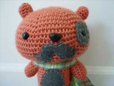 Kawaii Crochet Bear Baron Von Mustache Cute Amigurumi