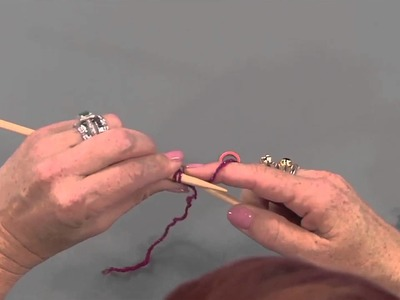 Knit An Easy Triangle Shawl with Vickie Howell, from Knitting Daily TV episode 1401