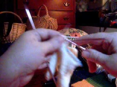 Knitting Index Finger on a Glove