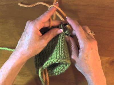 Knitting on Waste Yarn