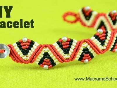 Macrame ZigZag Wave & Triangle Bracelet Tutorial
