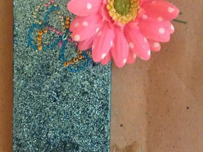 Make a Pretty Glitter Cell Phone Cover - Crafts - Guidecentral