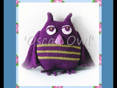 Oscar Owl Toy DK Knitting Pattern