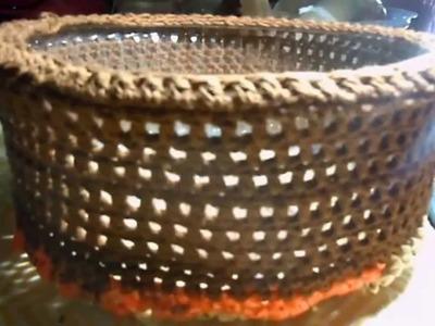 Part 2  Crocheted Plarn Basket