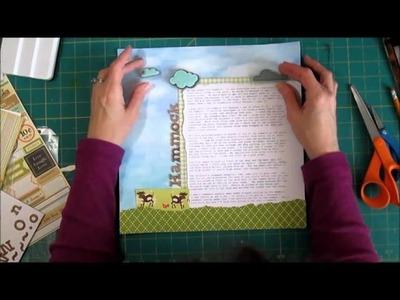Scrapbook Process - No Photo Page