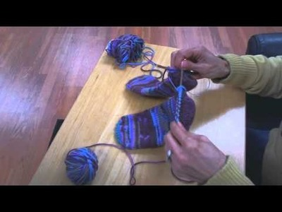 Toe-Up Socks on Circular Knitting Needles - Completing the Heel (IMPROVED Part 5 of 5)