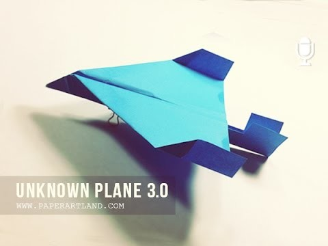 Tutorial Avión de papel - How to Create a New Paper Airplane 3.0 ( Final ) | Sparrowhawk
