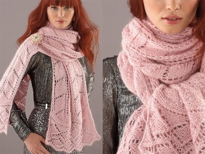 #22 Double Leaf Scarf, Vogue Knitting Holiday 2010