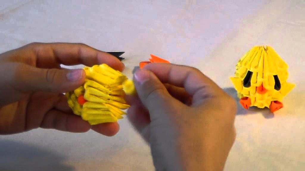 3D Origami Baby Chicken