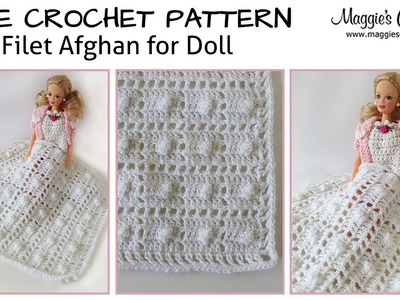 Baby Doll Filet Afghan Free Crochet Pattern - Right Handed