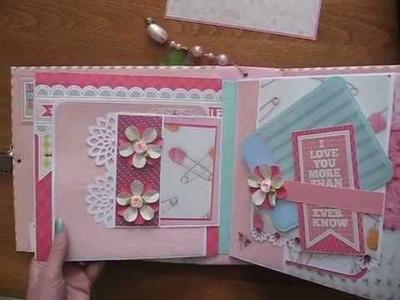 Baby Girl Pink 8x8 Scrapbook Mini Album