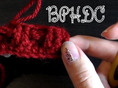 Back post half double crochet - Crochet basics
