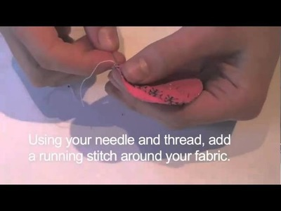 Craft projects - how to make fabric buttons