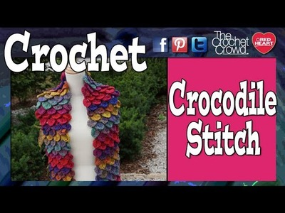 Crochet Crocodile Stitch Lesson + Project for Lefties