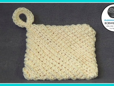 Crochet Hotpad Dishcloth Tutorial