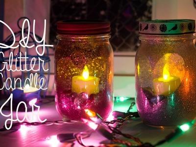 DIY Glitter Candle Mason Jar (Room Decor)