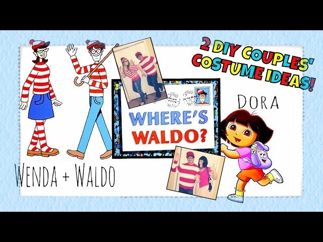DIY Halloween Costume Ideas For Couples! Part 2: Waldo & Dora!