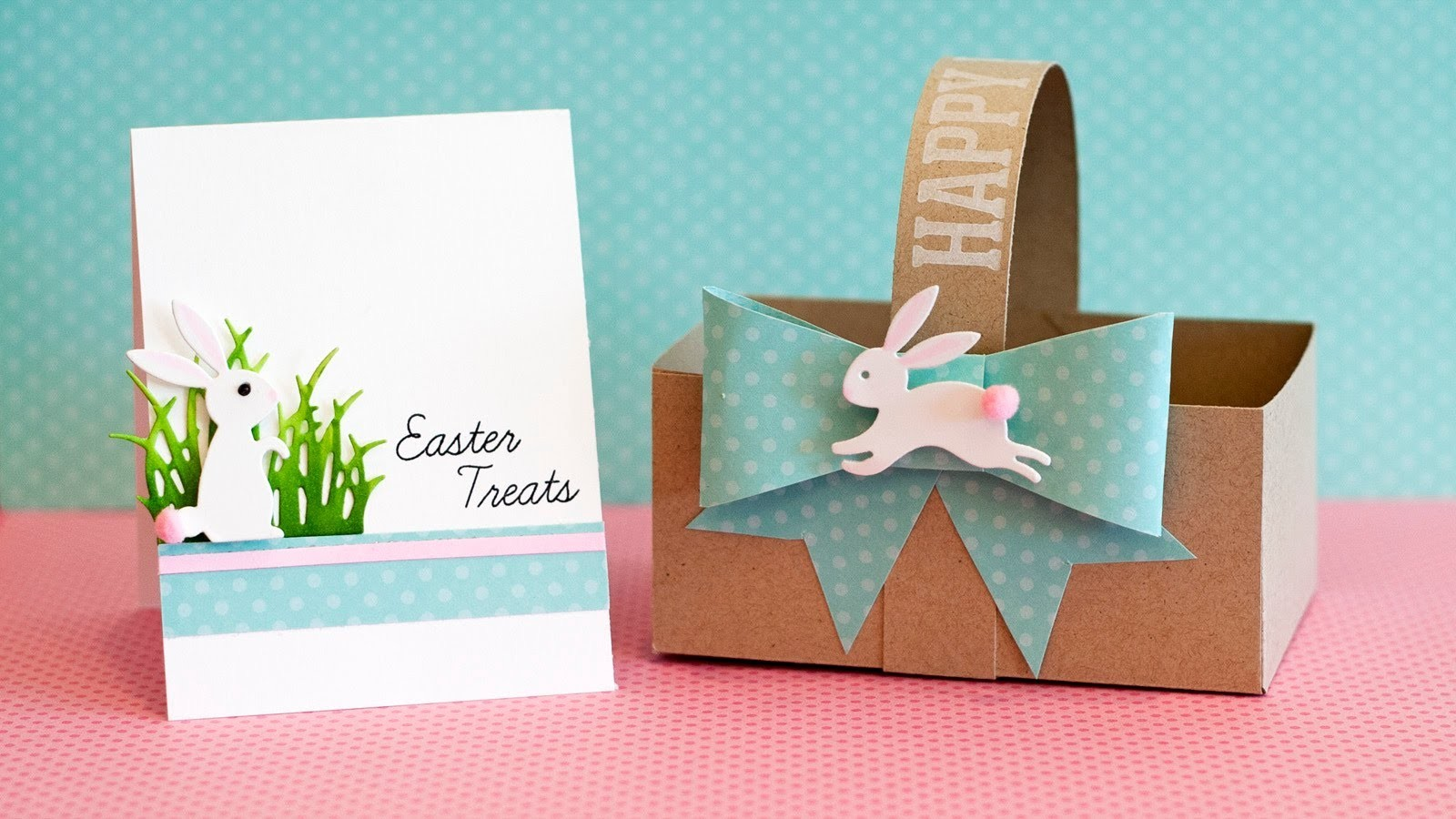 DIY Paper Basket, Bow and Card