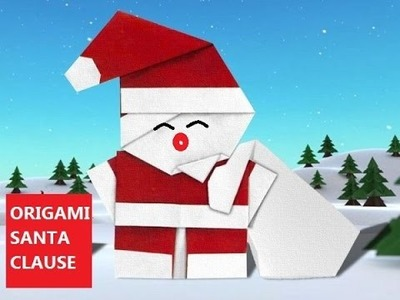DIY Paper Crafts :: Extreamely Creative ORIGAMI Santa Clause for GIFT or as DECOR - Innovative Arts