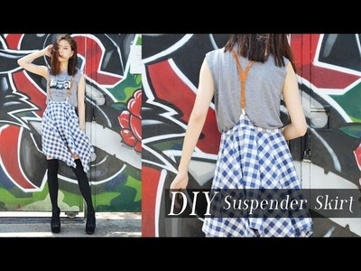 DIY Suspender Skirt & Casual Outfit Ideas