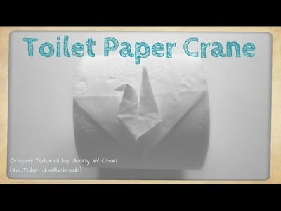 DIY Toilet Paper Origami Crane - Origami Fun - How to Fold Origami Crane From Toilet Paper Roll