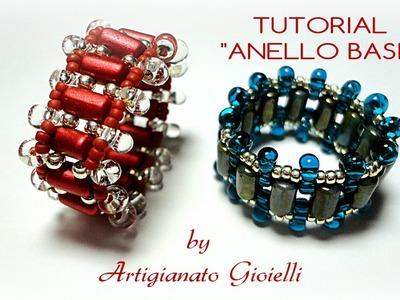 DIY Tutorial - Come fare anello con perline e rulla - Ring tutorial
