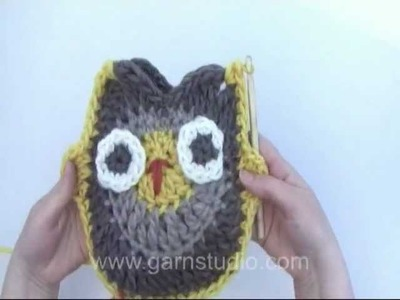 DROPS Crochet Tutorial: How to crochet a owl.
