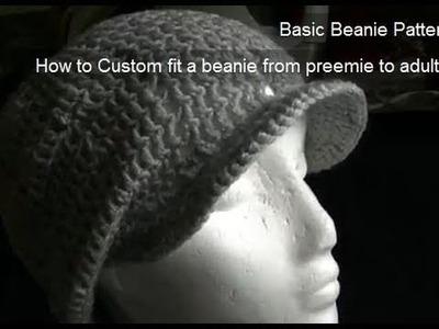 Eyelet Beanie - Includes Brim Tutorial Part 2 of 2