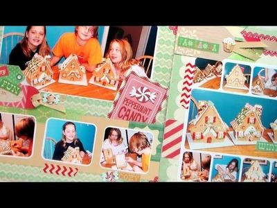 Gingerbread House Scrapbook Page Tutorial