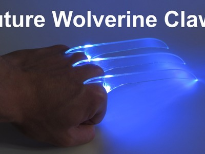 Homemade DIY Wolverine Claws - Tron Style