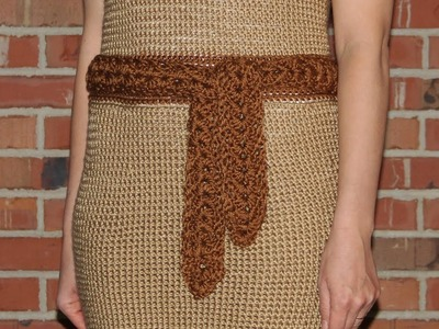 How to crochet a belt to a women's dress