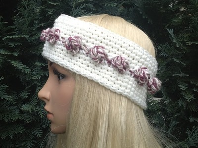How to Crochet Earwarmers. Headband Pattern #7 by ThePatterfamily