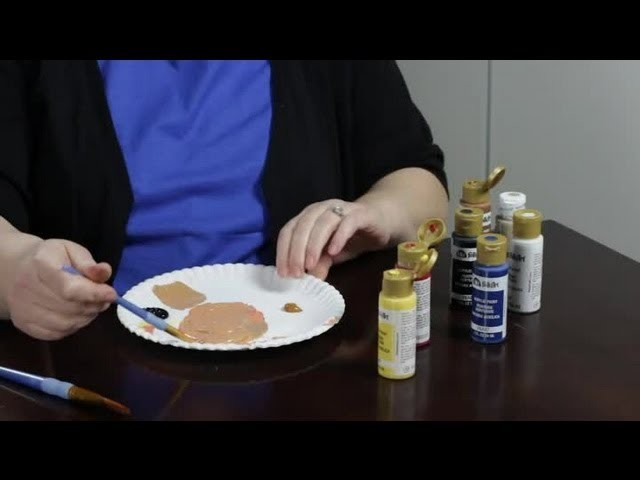 How to Make a Gingerbread Shade of Paint : Craft Projects With Paint