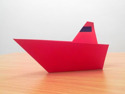 How to make an origami boat step by step.