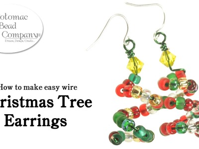 How to Make Easy Wire Christmas Tree Earrings (DIY)