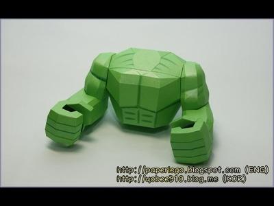 How to make Lego Hulk Papercraft - 4. Body