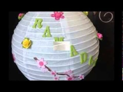 How to make paper lanterns   Ramadan Decorations