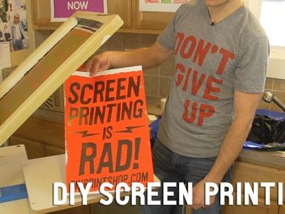 How to Screen Print: DIY Screen Printing at Home | FULL LENGTH DVD