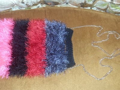 Learn to Crochet this Furry Handbag Free Tutorial Easy for Beginners DIY Pattern #2
