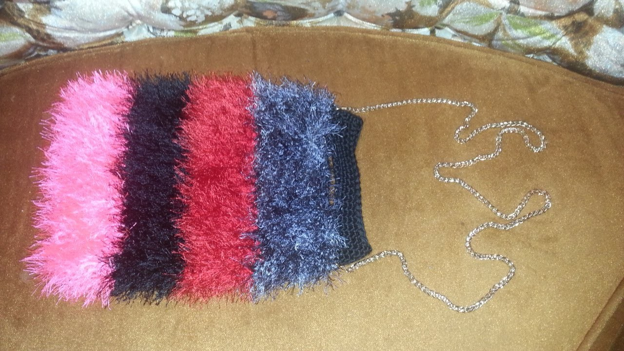 Learn to Crochet this Furry Handbag Free Tutorial Easy for Beginners DIY Pattern #2