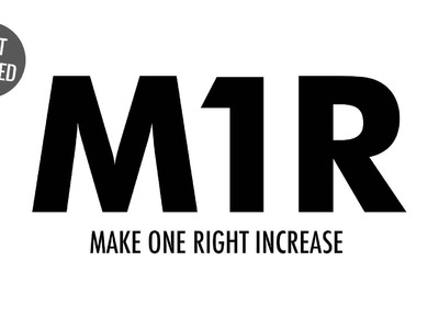Make One Right Increase (M1R):: Knitting Increase :: Left Handed