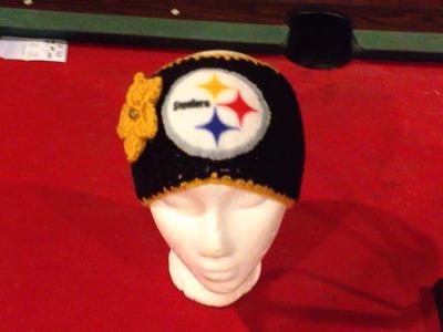 NFL CROCHET BEANIES and NFL headbands for women. #crochet #yarn #nfl