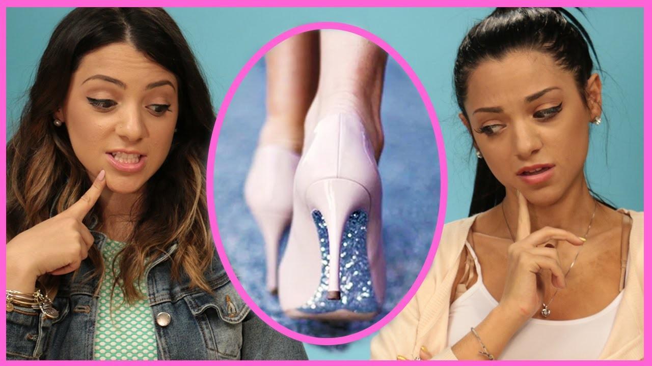NikiAndGabiBeauty DIY Glitter High Heels | DIY or DI-Don't!